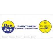 Кърпи за ръце на пачки - V сгъната хартия Dry Joy Тоалетна хартия и салфетки