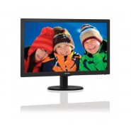 "Philips 21.5"" Slim LED 1920x1080 FullHD 16:9 5ms 200cd/m2 10 000 000:1, VESA, TCO, Piano black Монитори"