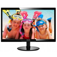 "Philips 24"" Slim LED 1920x1080 FullHD 16:9 5ms 250cd/m2 10 000 000:1 DVI, VESA, Piano Black Монитори"
