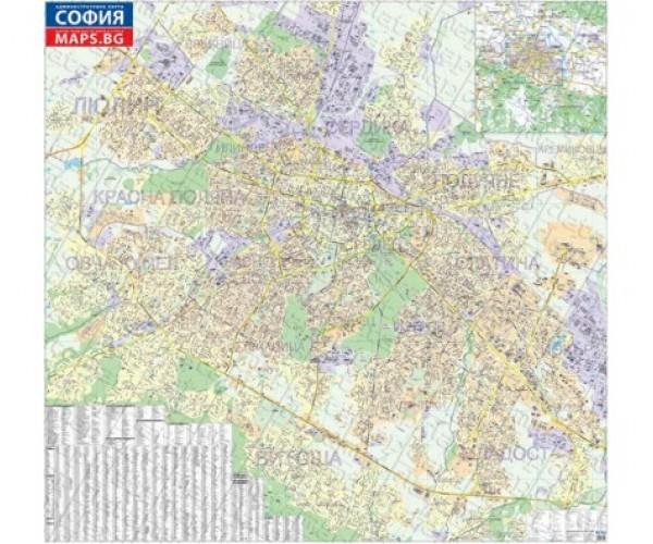 Stenna Administrativna Karta Na Sofiya 1 8 000 Laminirana 210h200 Sm