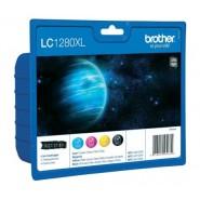 КОМПЛЕКТ МАСТИЛНИЦИ BROTHER LC1280XLVALBP B/C/M/Y Оригинални консумативи за мастилено-струйни устройства