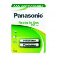 Батерия Panasonic акумулаторна LR03 ААА 750MA 2бр. в блистер Батерии и зарядни