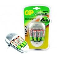 Зарядно за батерии GP 4 гнезда + 4x AA бат. Батерии и зарядни